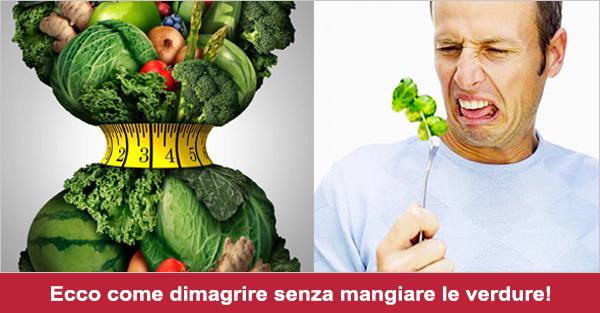 mangiando verdure si perde pesoa